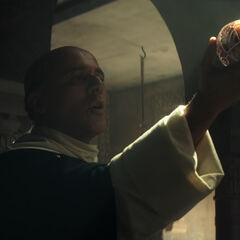 Torquemada holding an Apple of Eden