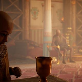 Kawab servant du vin à son grand-père