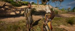 ACO The Odyssey - Lysander Thanking Bayek