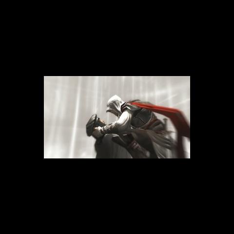 <i>Ezio</i> recueillant les ultimes paroles de <i>Vieri</i>.