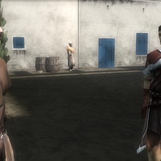 Shalim speaking with one of his guards