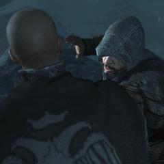 Ezio vermoordt Leandros