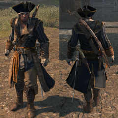 康納穿着基德船長的服裝