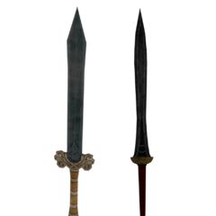 The Gladiator's long swords