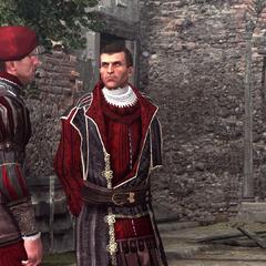 Niccolò recevant un message d'un espion.