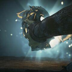 Arno s'emparant de l'artefact