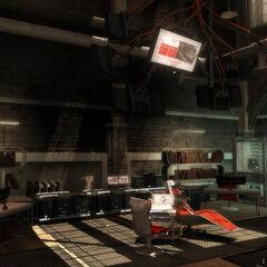 隐匿据点的内部,显示出Animus 2.0。
