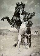 Alexandre dressant Bucéphale par Schommer