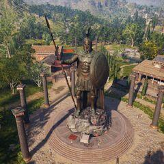 列奥尼达斯雕像