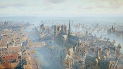 Notre-Dame widziana od tyłu (ACU) (by Kubar906)