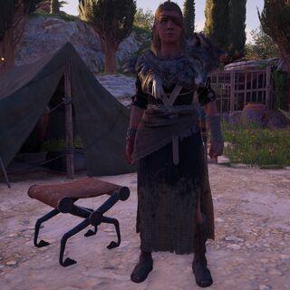 伊欧拉在阿波罗圣殿的营地里