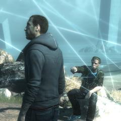 Clay legt het Nexus portaal uit aan Desmond