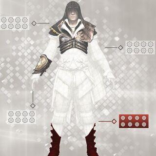 Statistique de <b>l'armure d'Altaïr</b>.