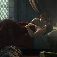 Caterina partageant le lit d'Ezio