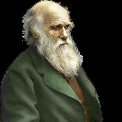 Photographie colorisée de <b>Darwin</b>