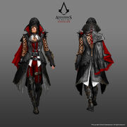 ACS Evie Frye Bloofer Lady Outfit - Concept Art