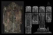 ACU DK Saint Denis Temple Door 01 - Concept Art