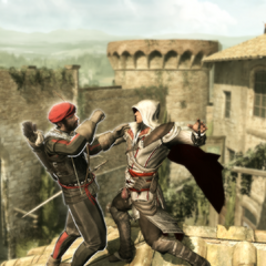 Ezio assassinant le quatrième garde