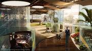 Assassin's Creed IV Black Flag Abstergo Entertainment interior Concept Art by EddieBennun