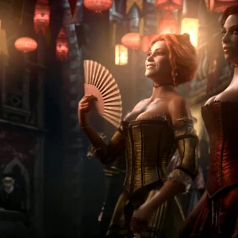 Courtisanes in de intro van Assassin's Creed II.