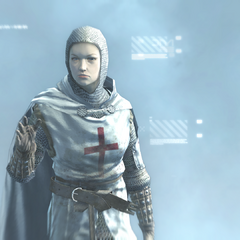 Maria in her Templar uniform