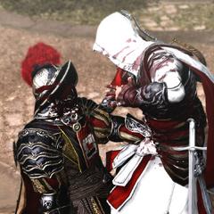 Ezio assassinant le troisième garde pontifical