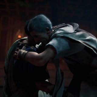 Brutus poignardant César
