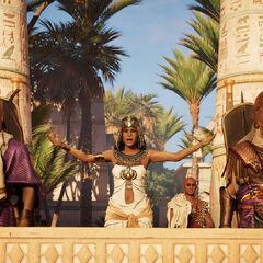 Cléopâtre s'adressant à ses sujets