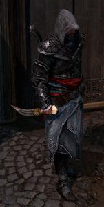 Ezio trzymający puginał Mehmeda (ACR) (by Kubar906)