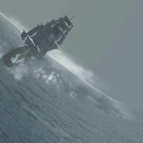 Le <i><b>Victoire</b></i> se retournant lors de la tempête