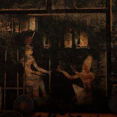 牆上的古壁畫