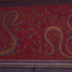 阿斯克勒庇俄斯圣殿里的蛇纹壁画