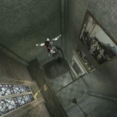 Ezio sautant au niveau inférieur