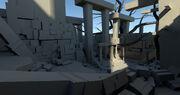 ACOD Petrified Temple Concept Model 4