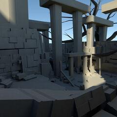 神殿的三维模型设定