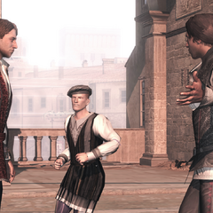 Federico helpt Ezio.