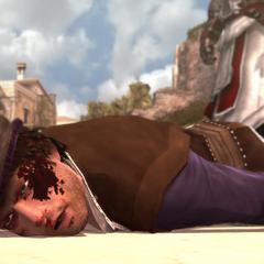 Duccio is uitgeschakeld na het gevecht.