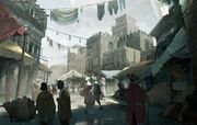Rome's Medieval District concept art