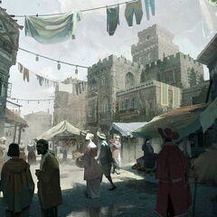 Medieval District concept art