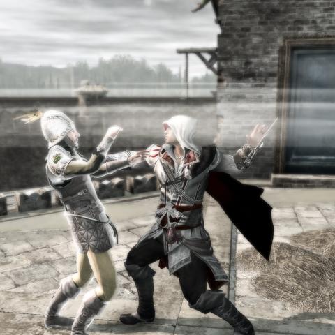 Ezio assassinant le courrier