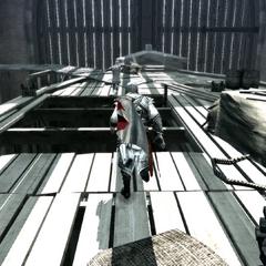 Ezio poursuivant le garde agile