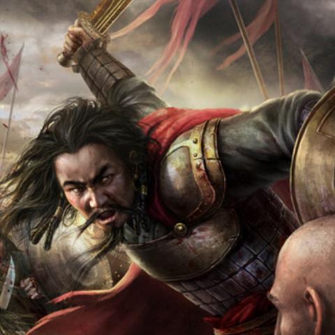 <b>Gengis Khan</b> se servant de l'Épée d'Eden en plein combat
