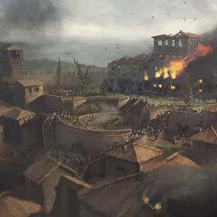 遭到围攻的蒙特里久尼的概念图