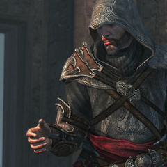 Ezio met zijn gebroken <a href=