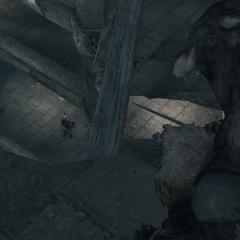 Ezio surpris par les Adeptes