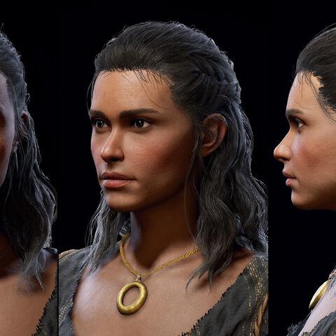 琪拉的头部模型