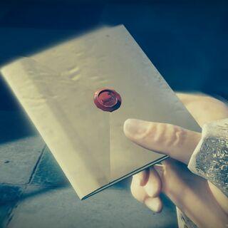 Arno redécouvrant la missive que lui avait confiée Perrault