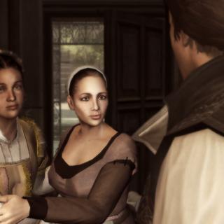 Annetta vertelt Ezio over de arrestatie van zijn vader en broers.