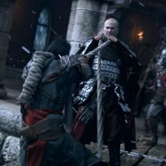 Ezio escaping Leandros and his men