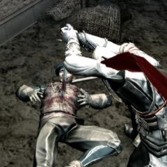 Ezio affrontant les gardes du trésor